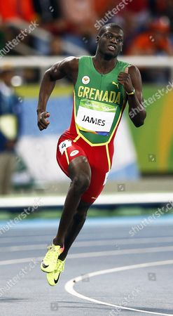 Kirani James of Grenada Competes During the Men's 400m Semi Finals of the Rio 2016 Olympic Games Athletics Track and Field Events at the Olympic Stadium in Rio De Janeiro Brazil 13 August 2016 Brazil Rio De Janeiro