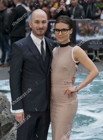 Us Director Darren Aronofsky and Canadian Producer Brandi-ann Milbradt Arrive For the 'Noah' Movie Premiere in Leicester Square London Britain 31 March 2014 the Film Will Be Shown Across British Theaters on 04 April United Kingdom London
