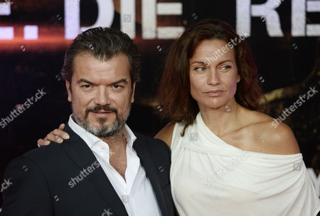 Swedish Actor/cast Member Dragomir Mrsic (l) and Unidentified Guest Arrive For the World Premiere of 'The Edge of Tomorrow' at the Imax Cinema in London Britain 28 May 2014 the Movie Will Be Released in British Theatres on 30 May United Kingdom London
