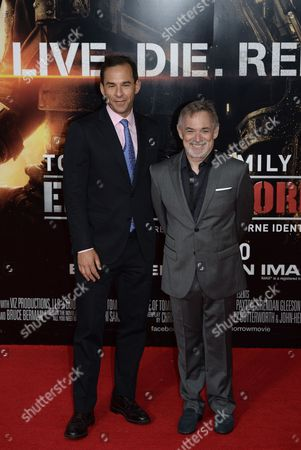Producers Erwin Stoff (r) and Tom Lassally (l) Arrive For the World Premiere of 'The Edge of Tomorrow' at the Imax Cinema in London Britain 28 May 2014 the Movie Will Be Released in British Theatres on 30 May United Kingdom London