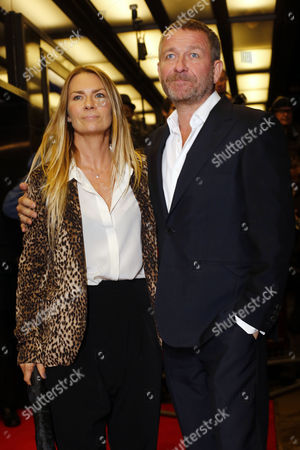 Stock Image of British Actor Sean Pertwee (r) and Wife Jacqui Hamilton-smith Arrive For the Premiere of 'Dom Hemingway' at the Curzon Mayfair Theatre in London Britain 28 October 2013 the Movie Opens in British Theaters on 15 November United Kingdom London