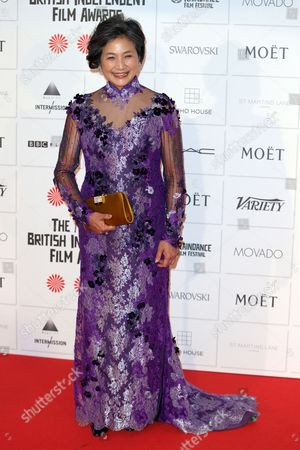 Chinese Actress Cheng Pei-pei Arrives For the British Independent Film Awards (bifa) in London Britain 07 December 2014 United Kingdom London