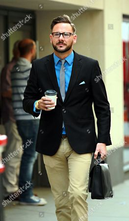 Glenn Mulcaire a Private Investigator who Worked with the News of the World Arriving at the Old Bailey Central Criminal Court in London For Sentencing in the Phone Hacking Trial 4 July 2014 He was Given a Six Month Suspended Sentence United Kingdom London