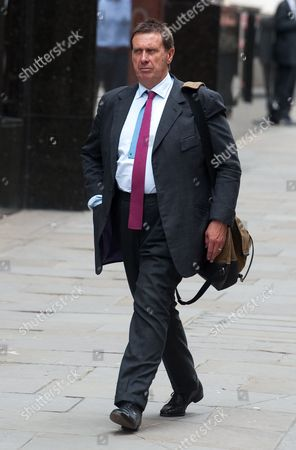 Stock Image of Former News of the World Royal Editor Clive Goodman Arrives to the Old Bailey Central Criminal Court in Central London Britain 23 June 2014 Clive Goodman is Among Eight People who Are Waiting a Verdict on a Range of Charges During the Trial Including Conspiracy to Intercept Voicemails and Phone Hacking United Kingdom London