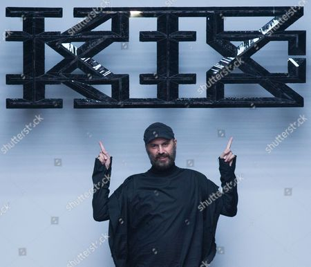 Stock Photo of Macedonian Designer Marjan Pejoski Gestures to the Crowd After the Men's 2015 Collection by Ktz During the London Men's Fashion Week in London Britain 11 January 2015 the Presentation of the Fall/winter 2015 Collections Runs Until 12 January United Kingdom London