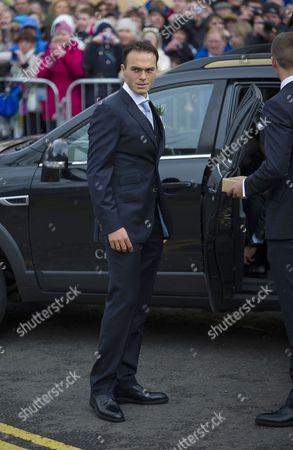 Former British Tennis Player Ross Hutchins Attends the Wedding of British Tennis Player Andy Murray and Kim Sears at the Cathedral in Dunblane Near Stirling Britain 11 April 2015 About 300 Guests Are Expected to Attend the Reception at the Hotel Cromlix After the Wedding Ceremony United Kingdom Dunblane