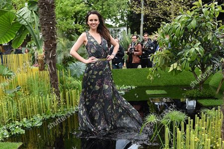 Miss Sweden Camilla Hansson Poses For Photographs at the World Vision Garden During the Rhs Chelsea Flower Show in London Britain 18 May 2015 the Event is Open to the Public From 19 to 23 May United Kingdom London
