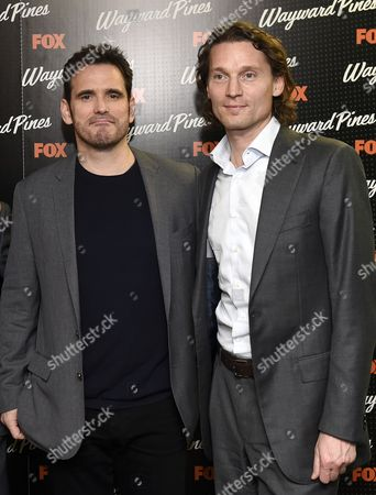 Us Actor Matt Dillon (l) and Fox International President Jan Koeppen Pose During a Photocall For the Screening of Wayward Pines at a Hotel in Central London Britain 24 March 2015 Wayward Pines is an Us Television Series Based on the Novel 'Pines' by Us Writer Blake Crouch United Kingdom London