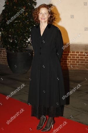 Irish Actress Geraldine Somerville Arrives For a Gala Dinner at Shakespeare's Globe Theater in London Britain 17 October 2013 Funds Raised on the Night Will Be in Support of the New Indoor Theatre the Candle-lit Sam Wanamaker Playhouse Which Opens Its Doors For the First Time in January 2014 United Kingdom London