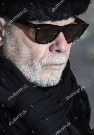 Stock Image of Former British Singer Gary Glitter Arrives to Southwark Crown Court in Central London Britain 05 February 2015 the Former Singer Whose Real Name is Paul Gadd Appeared on Charges Relating to Historic Sex Offenses Against Two Young Girls the Jury Found Him Guilty United Kingdom London