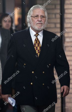 Stock Image of British Dj Dave Lee Travis Departs Southwark Crown Court in London Britain 26 September 2014 Veteran Bbc Television and Radio Presenter Dave Lee Travis was Sentenced to Three Months For Indecent Assault Relating to an Incident in 1995 United Kingdom London