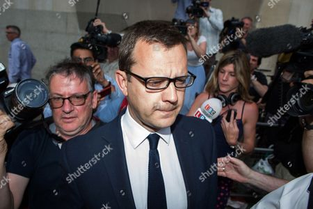 Former News of the World Editor Andy Coulson (c) Leaves Old Bailey Central Criminal Court in Central London Britain 24 June 2014 Andy Coulson Ex-press Secretary to British Prime Minister David Cameron Faces a Possible Jail Sentence After Being Found Guilty of Conspiring to Hack Phones While He was Editor of the Tabloid News of the World But the London Court Cleared His Predecessor Rebekah Brooks who Went on to Become Chief Executive of Rupert Murdoch's News International Media Empire As Well As the Paper's Managing Editor Stuart Kuttner of All Charges British Prime Minister David Cameron Has Issued a 'Full and Frank' Apology For Employing Andy Coulson As His Press Secretary Following the Former Tabloid Editor's Conviction United Kingdom London