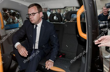 Stock Photo of Former News of the World Editor Andy Coulson Leaves Old Bailey Central Criminal Court in Central London Britain 24 June 2014 Andy Coulson Ex-press Secretary to British Prime Minister David Cameron Faces a Possible Jail Sentence After Being Found Guilty of Conspiring to Hack Phones While He was Editor of the Tabloid News of the World But the London Court Cleared His Predecessor Rebekah Brooks who Went on to Become Chief Executive of Rupert Murdoch's News International Media Empire As Well As the Paper's Managing Editor Stuart Kuttner of All Charges British Prime Minister David Cameron Has Issued a 'Full and Frank' Apology For Employing Andy Coulson As His Press Secretary Following the Former Tabloid Editor's Conviction United Kingdom London