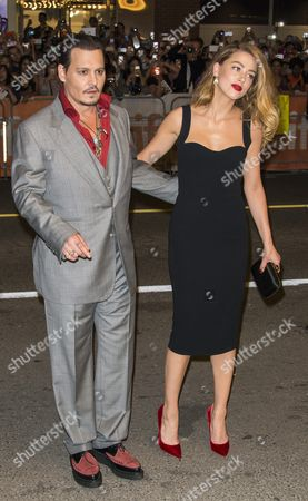 Us Actor and Cast Member Johnny Depp and His Wife Amanda Heard Arrive For the Screening of the Movie 'Black Mass' During the 40th Annual Toronto International Film Festival (tiff) in Toronto Canada 14 September 2015 the Festival Runs From 10 to 20 September Canada Toronto