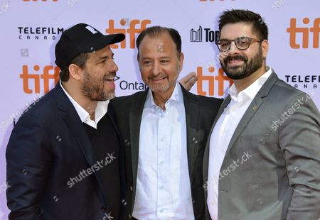 (l-r) Us Producer Brett Ratner Us Director Fisher Stevens and Tim Pastore From the National Geographic Channel Arrive For the Screening of the Documentary 'Before the Flood' During the 41st Annual Toronto International Film Festival (tiff) in Toronto Canada 09 September 2016 the Festival Runs From 08 to 18 September Canada Toronto