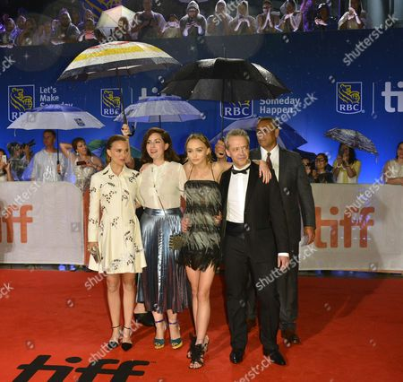 (l-r) Us-israeli Actress and Cast Member Natalie Portman French Director Rebecca Zlotowski French Actress and Cast Member Lily-rose Depp and French Actor and Cast Member Emmanuel Salinger Arrive For the Screening of the Movie 'Planetarium ' During the 41st Annual Toronto International Film Festival (tiff) in Toronto Canada 10 September 2016 the Festival Runs From 08 to 18 September Canada Toronto