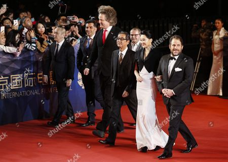 Tiantan Award Jury Members (l-r) Hong Kong Director Teddy Chan Bosnian Director Danis Tanovic German Director Florian Henckel Von Donnersmarck Japanese Director Takita Yojiro Romanian Director Corneliu Porumboiu Chinese Actress Xu Qing and Us Director Brett Ratner Arrive For the Opening Ceremony of the Beijing International Film Festival at the Beijing Yanqi Lake International Convention and Exhibition Center in Beijing China 16 April 2016 the Film Festival Will Run From 16 to 23 April China Beijing