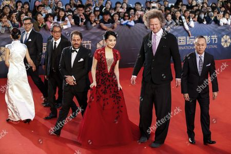 Tiantan Award Jury Members (l-r) Bosnian Director Danis Tanovic Japanese Director Takita Yojiro Us Director Brett Ratner Chinese Actress Xu Qing German Director Florian Henckel Von Donnersmarck and Hong Kong Director Teddy Chan Arrive For the Closing Ceremony Red Carpet Event of the 6th Beijing International Film Festival at the Beijing Yanqi Lake International Convention and Exhibition Center in Beijing China 23 April 2016 the Film Festival Ran From 16 to 23 April China Beijing