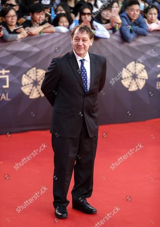 Us Film Director Sam Raimi Arrives For the Closing Ceremony Red Carpet Event of the 6th Beijing International Film Festival at the Beijing Yanqi Lake International Convention and Exhibition Center in Beijing China 23 April 2016 the Film Festival Ran From 16 to 23 April China Beijing