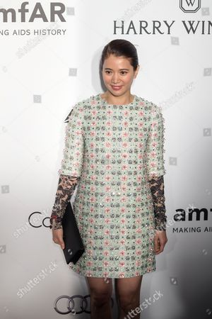 Stock Photo of Hong Kong Actress Anita Yuen Attends the Amfar Gala in Hong Kong China 19 March 2016 the American Foundation For Aids Research is Holding Its Second Hong Kong Fundraiser Event China Hong Kong