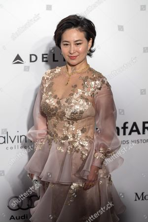Macau-born Businesswoman Pansy Ho Attends the Amfar Gala in Hong Kong China 19 March 2016 the American Foundation For Aids Research is Holding Its Second Hong Kong Fundraiser Event China Hong Kong