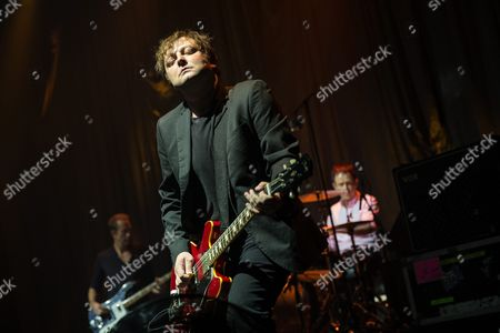 Guitarist Richard Oakes of British Band Suede Performs During a Concert the Asiaworld Expo in Hong Kong China 16 August 2016 China Hong Kong