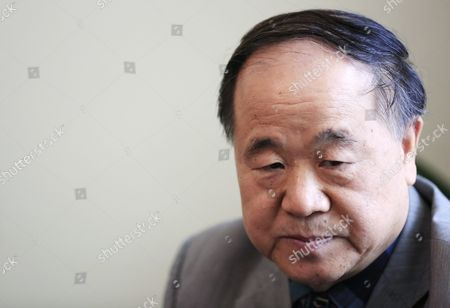 Chinese Writer and 2012 Nobel Prize Winner in Literature Mo Yan Looks on During a Press Conference at the Embassy of Chile in Beijing China 31 May 2016 Mo Signed an Agreement with Ramirez During the Ceremony to Adapt His Novel 'Life and Death Are Wearing Me Out' Into a Spanish Stage Play China Beijing