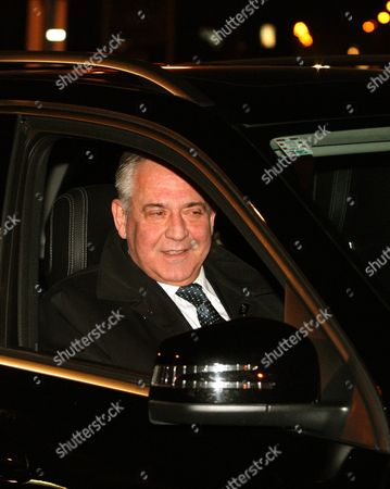 Stock Image of Former Croatian Prime Minister Ivo Sanader Leaves Remetinec Jail in Zagreb Croatia 25 November 2015 Croatia's Constitutional Court Has Ruled That Former Prime Minister Ivo Sanader Should Be Released From Detention While on Trial For Corruption Sanader is Facing Charges of Corruption Abuse of Position and War Profiteering While in Office Croatia Zagreb