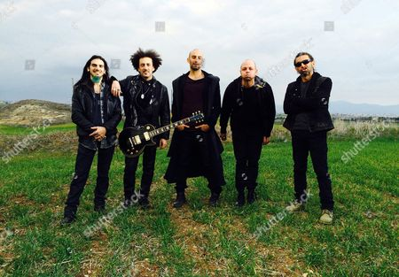 Stock Image of A Picture Dated 31 January 2016 Shows (l-r) Guitarist Harrys Pari Vocalist and Guitarist Constantinos Amerikanos Vocalist Francois Micheletto Drummer Christopher Ioannides Aka Chris J and Bassist Antonis Loizides of the Band Minus One in Nicosia Cyprus the Band Will Represent Cyprus with the Song 'Alter Ego' at the 61st Annual Eurovision Song Contest (esc) That Consists of Two Semi-finals to Be Held on 10 and 12 May and a Grand Final That Will Take Place at the Ericsson Globe in Stockholm Sweden on 14 May Cyprus Nicosia