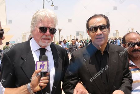 Egyptian Actor Hussein Fahmy (l) Attends the Funeral of Egyptian Actor Omar Sharif at the Mushir Tantawi Mosque in Cairo Egypt 12 July 2015 According to the Egyptian Actor's Agent Omar Sharif Died at the Age of 83 of a Heart Attack at a Hospital in Cairo Egypt Cairo