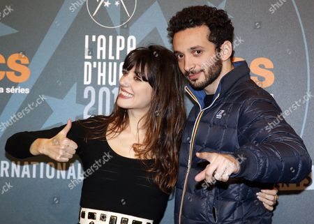 French Actress Vanessa Guide (l) and William Lebghil (r) Attend the 19th Annual International Comedy Film Festival in L'alpe D'huez France 15 January 2016 the Festival Runs From 13 to 17 January France Alpe D'huez