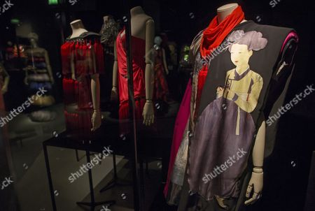 Clothing by Korean Fashion Designer Lie Sang-bong is Displayed As Part of the 'Korea Now!' Exhibition at the Arts Decoratifs Museum in Paris France 18 September 2015 the Exhibition Displaying Korean Design Interior Design and Fashion is Running As Part of the 'Year of France-korea' Celebrating the 130 Years of Franco-korean Diplomatic Relations by Running Korean-themed Cultural Events Throughout the Paris Over the Course of the Year France Paris