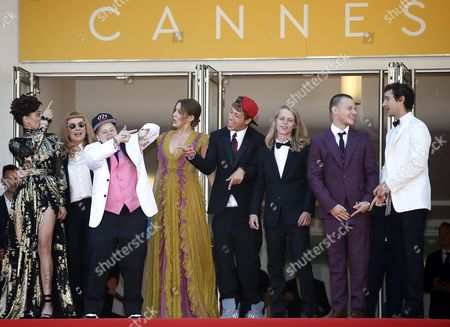(l-r) Us Actress Sasha Lane British Director Andrea Arnold Us Actress Veronica Ezell Us Actress Riley Keough Us Actor Raymond Coalson Us Actor Isaiah Stone Us Actor Mccaul Lombardi and Us Actor Shia Labeouf Arrive For the Screening of 'American Honey' During the 69th Annual Cannes Film Festival in Cannes France 15 May 2016 the Movie is Presented in the Official Competition of the Festival Which Runs From 11 to 22 May France Cannes