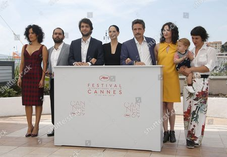 (l-r) Brazilian Actress Maeve Jinkings Brazilian Actor Fabio Leal Brazilian Actor Humberto Carrao Brazilian Actress Sonia Braga Brazilian Director Kleber Mendonca Filho Producer Emilie Lesclaux and Unidentified Guest Pose During the Photocall For 'Aquarius' at the 69th Annual Cannes Film Festival in Cannes France 18 May 2016 the Movie is Presented in the Official Competition of the Festival Which Runs From 11 to 22 May France Cannes