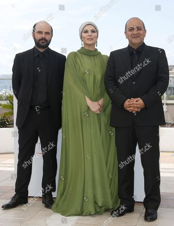 Stock Picture of (l-r) Iranian Actor Ali Mosaffa Iranian Director Behnam Behzadi and Iranian Actress Sahar Dolatshahi Pose During the Photocall For 'Varoonegi' (inversion) at the 69th Annual Cannes Film Festival in Cannes France 18 May 2016 the Movie is Presented in the Section Un Certain Regard of the Festival Which Runs From 11 to 22 May France Cannes