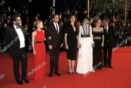 (l-r) French Producer Alain Attal French Actress Melanie Thierry French Actor Gaspard Ulliel French Director Stephanie Di Giusto French Actress Soko French Us Actress Lily-rose Depp and French Actor Louis-do De Lencquesaing Arrive For the Screening of 'I Daniel Blake' During the 69th Annual Cannes Film Festival in Cannes France 13 May 2016 the Movie is Presented in the Official Competition of the Festival Which Runs From 11 to 22 May France Cannes