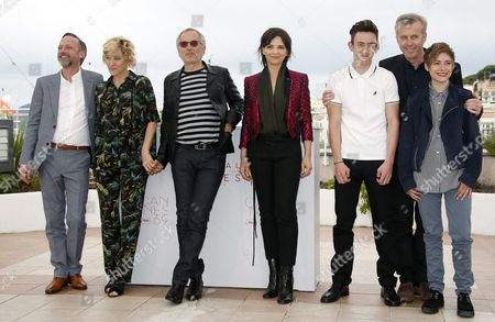 (l-r) French Actor Jean-luc Vincent French Italian Actress Valeria Bruni-tedeschi French Actor Fabrice Luchini French Actress Juliette Binoche French Actor Brandon Lavieville French Director Bruno Dumont and French Actress Raph Pose During the Photocall For 'Ma Loute' (slack Bay) at the 69th Annual Cannes Film Festival in Cannes France 13 May 2016 the Movie is Presented in the Official Competition of the Festival Which Runs From 11 to 22 May France Cannes