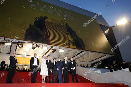 (2l-r) French Actor Fabrice Luchini French Italian Actress Valeria Bruni-tedeschi French Actor Brandon Lavieville French Actress Raph French Actress Juliette Binoche French Director Bruno Dumont and French Actor Jean-luc Vincent Leave After the Screening of 'Ma Loute' (slack Bay) As General Delegate of the Festival Thierry Fremaux (l) Looks on During the 69th Annual Cannes Film Festival in Cannes France 13 May 2016 the Movie was Presented in the Official Competition of the Festival Which Runs From 11 to 22 May France Cannes