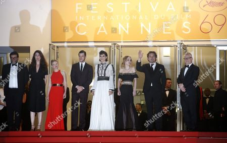 (l-r) French Producer Alain Attal French Director Stephanie Di Giusto French Actress Melanie Thierry French Actor Gaspard Ulliel French Actress Soko French Us Actress Lily-rose Depp and French Actor Louis-do De Lencquesaing Arrive For the Screening of 'I Daniel Blake' During the 69th Annual Cannes Film Festival in Cannes France 13 May 2016 the Movie is Presented in the Official Competition of the Festival Which Runs From 11 to 22 May France Cannes