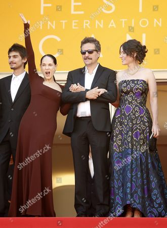 (l-r) Brazilian Actress Sonia Braga Brazilian Director Kleber Mendonca Filho and Producer Emilie Lesclaux Arrive For the Screening of 'Aquarius' During the 69th Annual Cannes Film Festival in Cannes France 17 May 2016 the Movie is Presented in the Official Competition of the Festival Which Runs From 11 to 22 May France Cannes