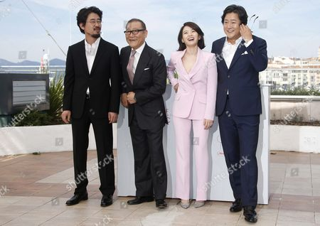 (l-r) South Korean Director Na Hong-jin Japanese Actor Kunimura Jun South Korean Actress Chun Woo Hee and South Korean Actor Kwak Do Won Pose During the Photocall For 'Goksung' (the Strangers) at the 69th Annual Cannes Film Festival in Cannes France 18 May 2016 the Movie is Presented out of Competition at the Festival Which Runs From 11 to 22 May France Cannes