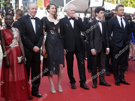 (l-r) Burkina Faso Actress Nadege Ouedraogo Belgian Director Luc Dardenne French Actress Adele Haenel Belgian Director Jean-pierre Dardenne Belgian Actor Louka Minnella and Belgian Actor Jeremie Renier Arrive For the Screening of 'La Fille Inconnue' (the Unknown Girl) During the 69th Annual Cannes Film Festival in Cannes France 18 May 2016 the Movie is Presented in the Official Competition of the Festival Which Runs From 11 to 22 May France Cannes