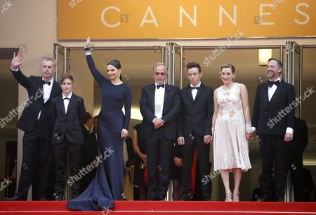 (l-r) French Director Bruno Dumont French Actress Raph French Actress Juliette Binoche French Actor Fabrice Luchini French Actor Brandon Lavieville French Italian Actress Valeria Bruni-tedeschi and French Actor Jean-luc Vincent Arrive For the Screening of 'Ma Loute' (slack Bay) During the 69th Annual Cannes Film Festival in Cannes France 13 May 2016 the Movie is Presented in the Official Competition of the Festival Which Runs From 11 to 22 May France Cannes