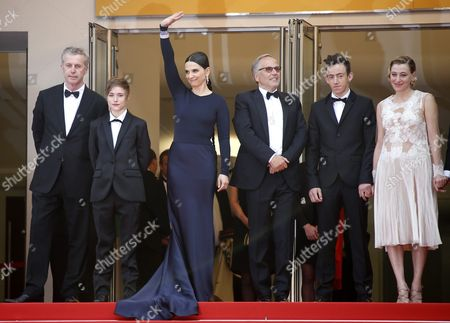 (l-r) French Director Bruno Dumont French Actress Raph French Actress Juliette Binoche French Actor Fabrice Luchini French Actor Brandon Lavieville and French Italian Actress Valeria Bruni-tedeschi Arrive For the Screening of 'Ma Loute' (slack Bay) During the 69th Annual Cannes Film Festival in Cannes France 13 May 2016 the Movie is Presented in the Official Competition of the Festival Which Runs From 11 to 22 May France Cannes