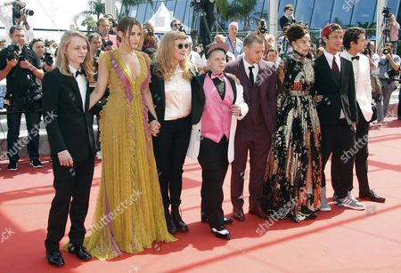 (l-r) Us Actor Isaiah Stone Us Actress Riley Keough British Director Andrea Arnold Us Actress Veronica Ezell Us Actor Mccaul Lombardi Us Actress Sasha Lane Us Actor Raymond Coalson and Us Actor Shia Labeouf Arrive For the Screening of 'American Honey' During the 69th Annual Cannes Film Festival in Cannes France 15 May 2016 the Movie is Presented in the Official Competition of the Festival Which Runs From 11 to 22 May France Cannes