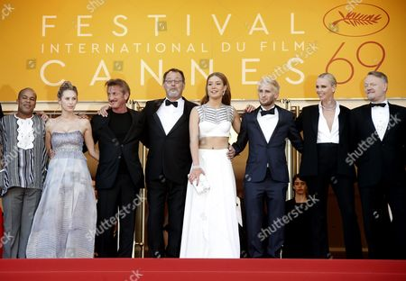 (l-r) Us Actor Zubin Cooper Dylan Frances Penn Us Director Sean Penn French Actor Jean Reno French Actress Adele Exarchopoulos Hopper Penn South African Actress Charlize Theron and British Actor Jared Harris Arrive For the Screening of 'The Last Face' During the 69th Annual Cannes Film Festival in Cannes France 20 May 2016 the Movie is Presented in the Official Competition of the Festival Which Runs From 11 to 22 May France Cannes