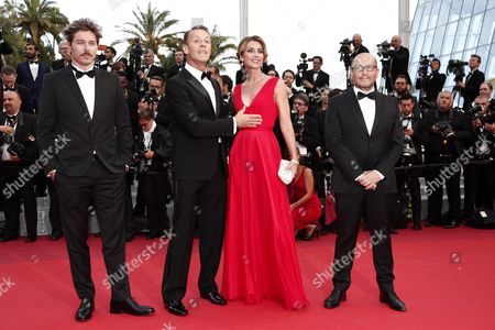 Italian Actor Rocco Siffredi (2-l) and Partner Rosa (2-r) Arrive For the Screening of 'Money Monster' During the 69th Annual Cannes Film Festival in Cannes France 12 May 2016 the Movie is Presented out of Competition at the Festival Which Runs From 11 to 22 May France Cannes