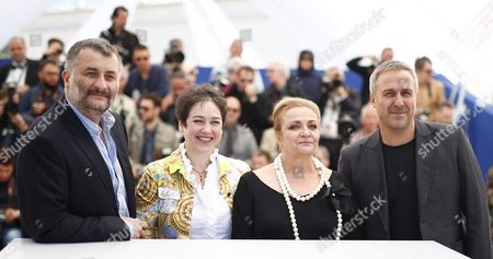 (l-r) Romanian Director Cristi Puiu Romanian Producer Anca Puiu Romanian Actress Dana Dogaru and Romanian Actor Mimi Branescu Pose During the Photocall For 'Sieranevada' at the 69th Annual Cannes Film Festival in Cannes France 12 May 2016 the Movie is Presented in the Official Competition of the Festival Which Runs From 11 to 22 May France Cannes