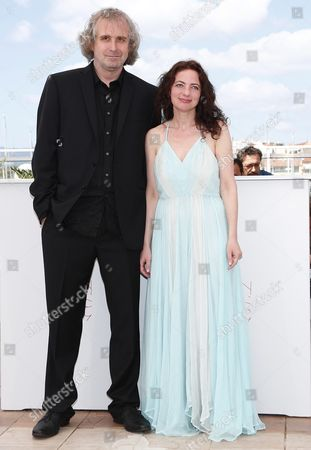 Us Director Michael O'shea (l) and Us Actress Chloe Levine (r) Pose During the Photocall For 'The Transfiguration' at the 69th Annual Cannes Film Festival in Cannes France 14 May 2016 the Movie is Presented in the Section Un Certain Regard of the Festival Which Runs From 11 to 22 May France Cannes