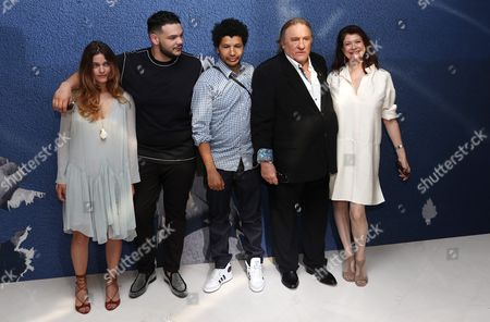 (l-r) French Actress Louise Grinberg French Actor Sadek French Director Rachid Djaidani French Actor Gerard Depardieu and Producer Anne-dominique Toussaint Pose During a Photocall For 'Tour De France' at the 69th Annual Cannes Film Festival in Cannes France 15 May 2016 the Festival Runs From 11 to 22 May France Cannes